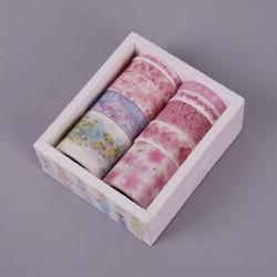 Декоративная лента - самоклейка Виши Цветочные узоры 01