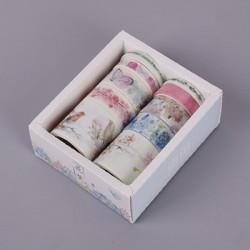 Декоративная лента - самоклейка Виши Цветочные узоры 06