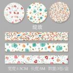 Декоративная лента - самоклейка Виши Цветочные узоры X