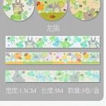 Декоративная лента - самоклейка Виши Цветочные узоры O