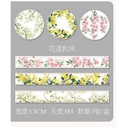 Декоративная лента - самоклейка Виши Цветочные узоры C