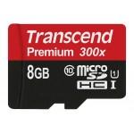Карта памяти Transcend MicroSDHC 8GB Class10 UHS-I 300x (с SD-адаптером)