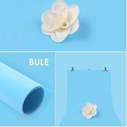 Фон пластиковый (ПВХ) Visico PVC-1020 (100x200 см) - Голубой